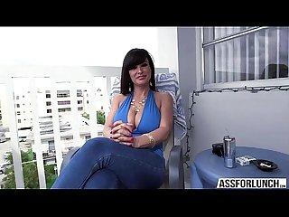 Busty brunette Lisa gets fucked hardcore