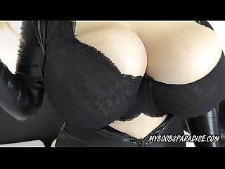 Talia Amanda New Busty model in Spandex Suit