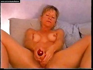 Blonde albertine 47 years from france masturbates and cums
