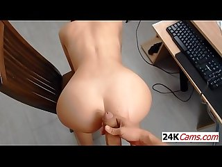 Redhead Fucked Doggystyle Caught on Tape