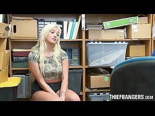 Chubby busty blonde teen thief daisy lee Busted banged