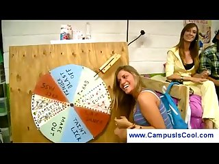 College girls play daring sex game