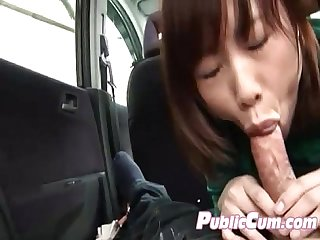 Awesome japanese amatuer enjoys public porn
