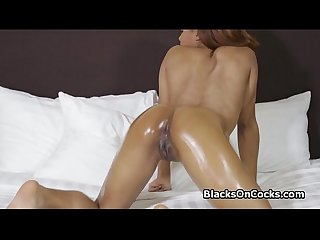 Black ass loves thick white dick