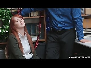 Suspect krysta ride on the officers cock