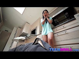 Cindy starfall seduces a plumber when she sees his cock