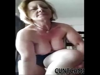 Fat Mature Landlady Strips on Webcam - More at cuntcams.net