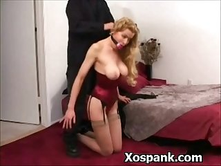Astonishing bitch spanked horny