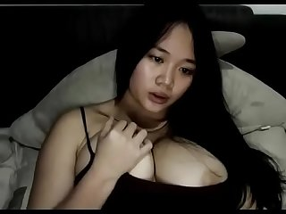 Asian chat girl showing topless big tits
