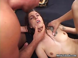 Angelina sweet got treated to the two biggest cock