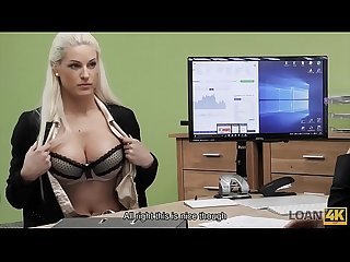 LOAN4K. Agent promisses a lot of money to hottie is she pleases him