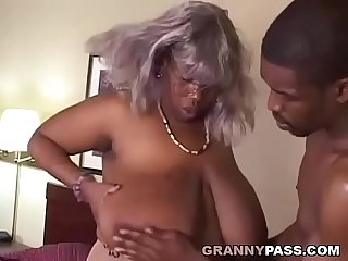 BBW Ebony Granny Fucks Big Black Cock