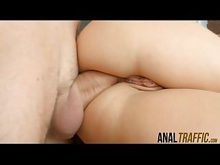 Russian cutie aurelly rebel gets her juicy anus wrecked