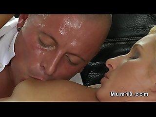 Muscled guy fucks natural busty mom till cumshot