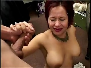 Asian gives blowjob gets cum in her eye porncloud club