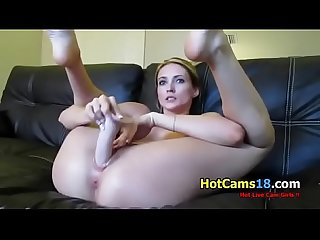 Having Fun with a Dildo and my Tight Wet Pussy