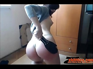 Teen spanks herself for your tips