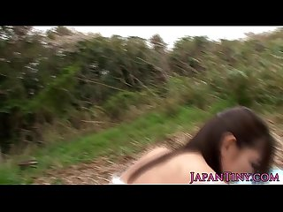 Petite japanese babe wants cock outdoors