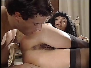 Venere bianca in black stockings banged in a luxury house