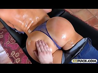 Giant boobs milf analed on massage table