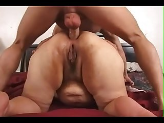 Granny and boy anal