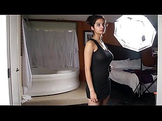 Desi hot indian sexy pornstar Shanaya in black outfits stripping show