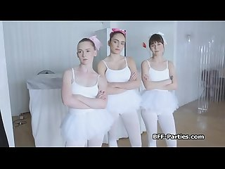 Ballerinas blowing instructors thick dick
