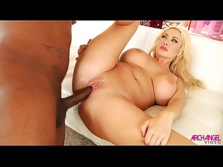Huge tits ass fucked by black cock and squirting