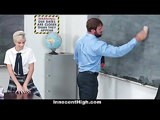 Innocenthigh hot shy teen fucks teacher