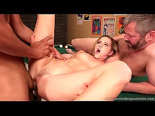 Cum eating cuckolds hollie mack S hubby lost her in a pool game