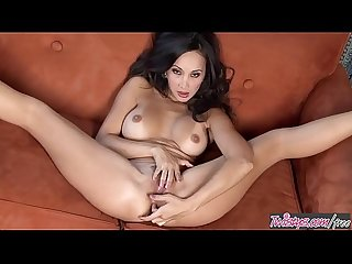 Asian milf katsuni fingers her ass and pussy solo twistys