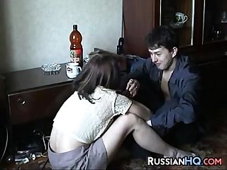 Russian milf fucked by a young guy