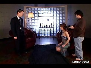 Japanese Spy babe gives a hot double blowjobs uncensored