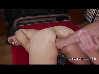 Asian masseuse anal fisted and fucked