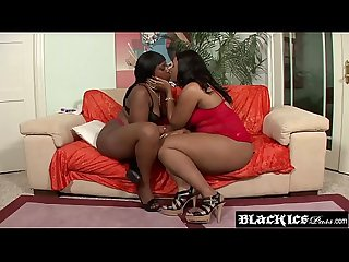 Voluptuous ebony Corti Bleu takes part in BBW lesbo session