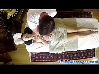 Amateur beauty massaged and seduced