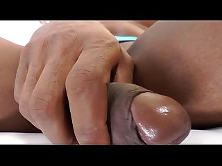 Shemale ebony needs some alone time with her erection