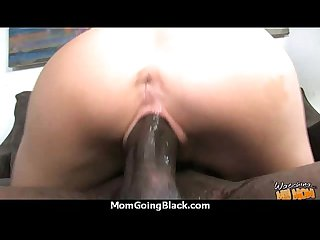 Sexy mom gets a creamy facial after getting pounded by a black dude 11