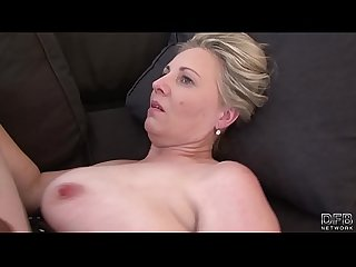 Granny mouth fuck deepthroat blowjob swallowing cum after pussy penetration