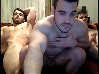 Three guys Jerking off on The couch vert 247cool period blogspot period com