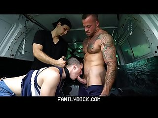 FamilyDick - Muscled Stepdad Pounds His Stepson�s Butt