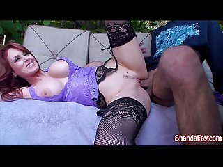 Kinky canadian milf shanda fay gets fucked in her backyard