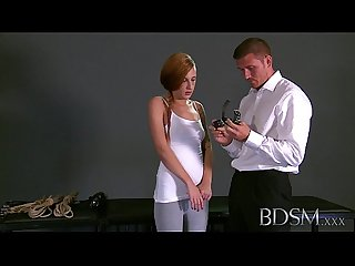 Bdsm Xxx master gives Young sub her first Real domination experience