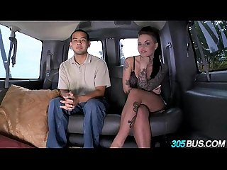 Christy mack fucks a couple of dudes on the 305bus 3 4