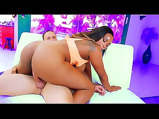 Busty black milf with a big ass gets fucked hard