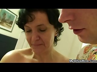 She finds her old mom riding her bf S cock