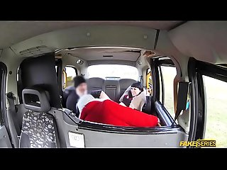 Alexxa Vice and Sexy Cleo threesome in the taxi