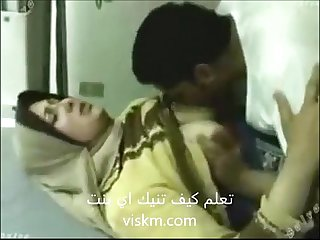 Hijab muslim arabian maide fucking her boss at work