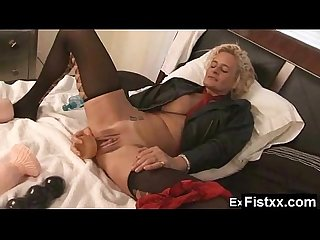 Yummy Titty Fisting Wife Naked Solo