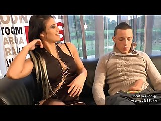 Pretty french slut analyzed and jizzed for her casting couch with the boyfriend